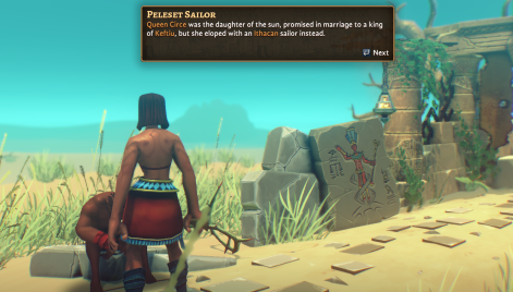 Pharaonic in-game dialog